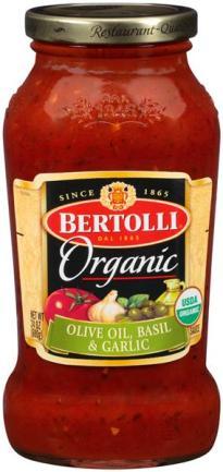 Organic pasta sauce Bertolli